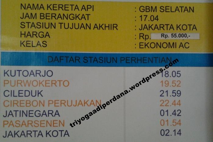 Jadwal (Lengkap) Kereta Api Stasiun Besar Lempuyangan per 1 April 2013