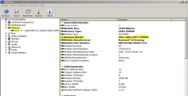 contoh seri RAM yang ku pasang