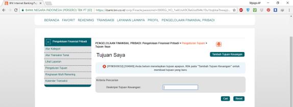 5. Pengaturan Tujuan Transaksi