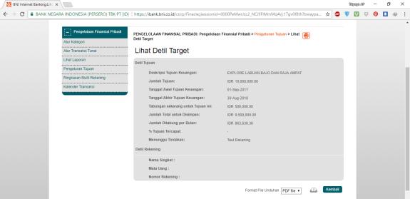 7. Detil Target