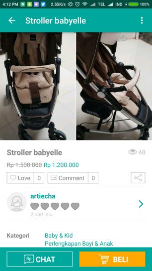 stroller prelo babyelle (2)