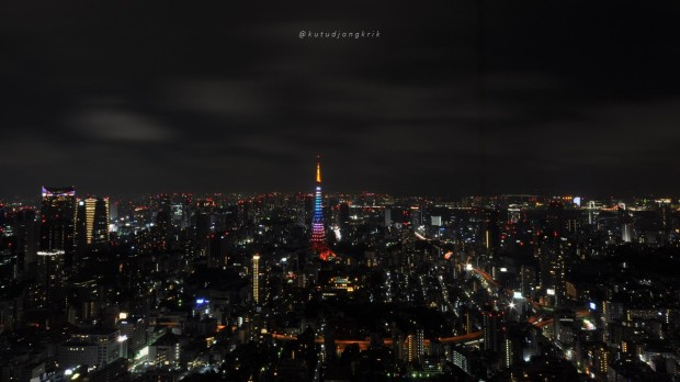 jepang tokyo tower from roppongi hills
